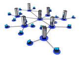Laptop network — Stock Photo
