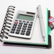 Notebook and calculator — Stockfoto #8010791