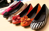 Different colors female shoes — Stock Photo
