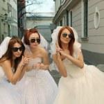 Playful brides — Stock Photo
