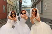Playful brides — Stock Photo