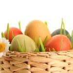 Eggs in basket — Stock Photo