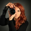 Pretty photographer — Stock Photo #8820360