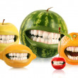 Happy fruits — Stock Photo