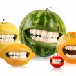 Royalty-Free Stock Photo: Happy fruits