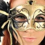 Portrait in mask — Stock Photo