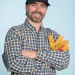 Cheerful man in cap — Stock Photo #10668634