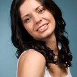 Beautiful young brunette — Stock Photo