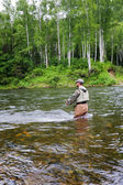 Rybak połowów łososia — Zdjęcie stockowe