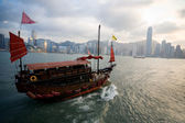 Sailing boat in Hong Kong — Stockfoto