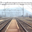 Freight train station — Stock Photo