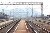 Freight train station — Stock Photo