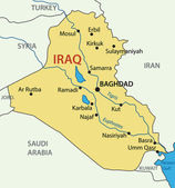 Republic of Iraq - vector map — Stock Vector