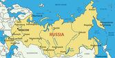 Rusia - mapa del vector — Vector de stock