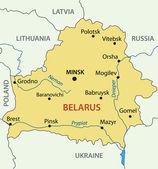 Republic of Belarus - vector map — Stock Vector