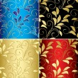 Royalty-Free Stock Vector Image: Set of floral vector backgrounds with gradient