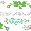 Vector set - floral elements for design — Stock Vector
