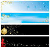 Vector - set of christmas color banners — Stock Vector