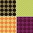 Royalty-Free Stock Vector Image: Set of four vector retro seamless patterns