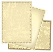 Old retro frames with grungy background - vector — Stock Vector