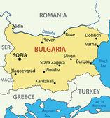Vector map - Republic of Bulgaria — Stock Vector
