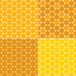 Vector seamless patterns - honeycombs — Stock Vector