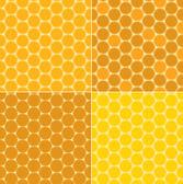 Vector seamless patterns - honeycombs — Stock Vector