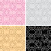 Vector seamless geometric patterns - set — Stock Vector
