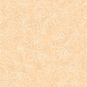 Light beige seamless floral background - vector — Stock Vector