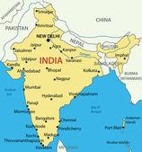Republic of India - vector map — Stock Vector