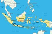 República de indonesia - mapa del vector — Vector de stock