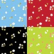 Set of summer floral patterns - vector - Stock Vector
