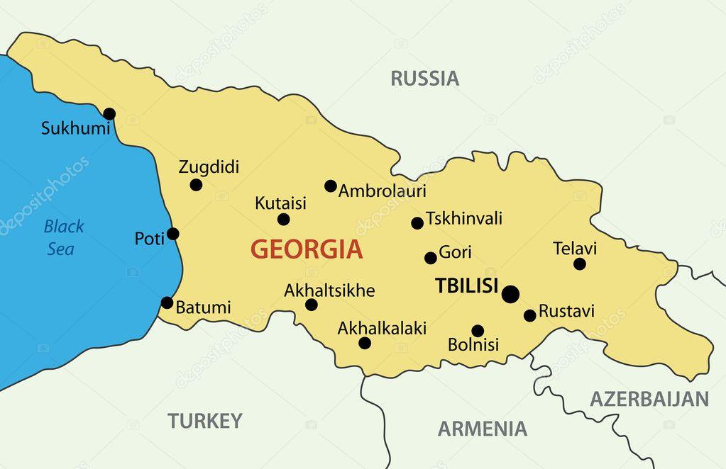 Georgia Country Vector Map Stock Vector 169 Pavalena