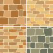 Set - vector stone wall - seamless patterns — Stock Vector #9953486