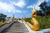 Stairs with golden dragons — Stock Photo