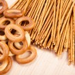 Stock Photo: Bread ring and breadsticks