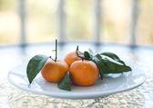 świeże mandarynki pomarańczowy — Zdjęcie stockowe