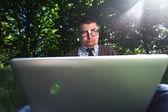 メガネの男 — ストック写真