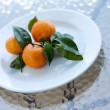 Fresh orange mandarines — Stock Photo