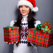 Stock Photo: Christmass girl