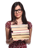 College girl with books — Stock Photo