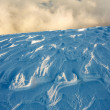 Snow and clouds — Stock Photo