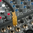 Stock Photo: Audio control console