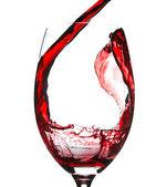 Rode wijn splash — Stockfoto