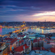 Istanbul Sunset Panorama - Stock Photo