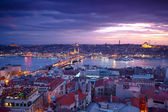 Istanbul Sunset Panorama — Stock Photo