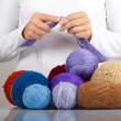 Stock Photo: knitting