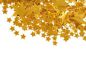 Golden stars isolated on white background — Stock fotografie