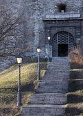 Castle staircase — Stock Photo