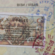 Visas in passport — Stock Photo